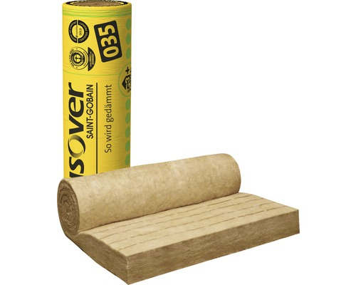 Klemmfilz ISOVER Integra 1-035 Zwischensparrendämmung für Steildach 4800 x 1200 x 120 mm