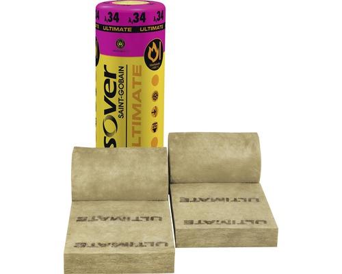 Feutre pour construction en bois ISOVER Ultimate pour murs extérieurs et intérieurs dans cadre en bois catégorie de conductivité thermique 035 4700 x 575 x 120 mm