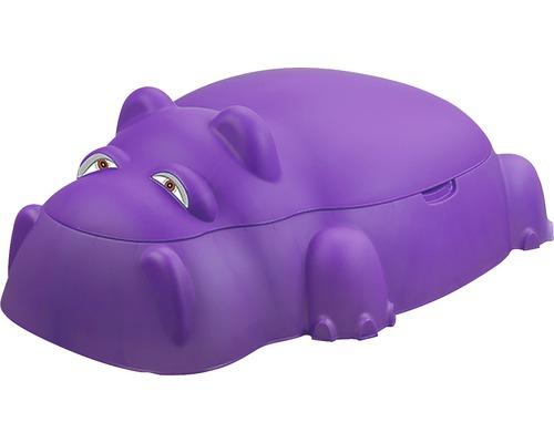 """Bac à sable enfant """"Hippo"""" plastique 98 x 71 x 33,5 cm violet"""
