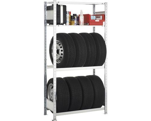 Étagère de garage Schulte étagère de base zinguée 2000x1000x400mm 3 niveaux capacité de charge 450kg