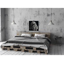 Tableau sur toile Grey Lion Head 27x27 cm-thumb-1