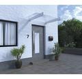 Vordach Pultform Lyon VSG 180x107,5 cm weiß ohne Wandanschlussprofil