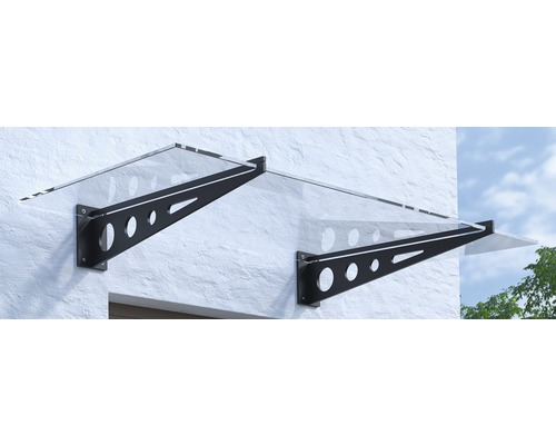 Vordach Pultform Metz VSG 200x105 cm anthrazit