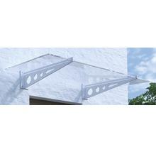 Vordach ARON Pultform Metz VSG 150x105 cm weiß ohne Wandanschlussprofil-thumb-0