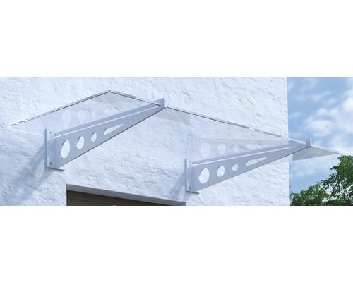 Vordach Pultform Metz VSG 180x105 cm weiß