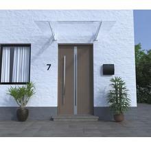 Vordach ARON Pultform Metz VSG 150x105 cm weiß ohne Wandanschlussprofil-thumb-2