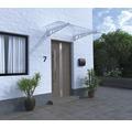 Vordach Pultform Metz VSG 150x105 cm weiß