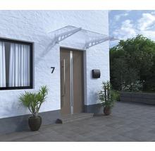Vordach ARON Pultform Metz VSG 150x105 cm weiß ohne Wandanschlussprofil-thumb-1