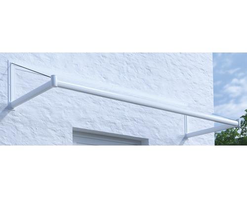 Vordach Pultform Nancy VSG 200x120 cm weiß