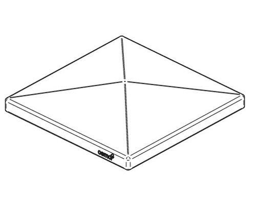 Pfostenkappe ALU-Cladding Rhombus 9 x 9 cm anthrazit