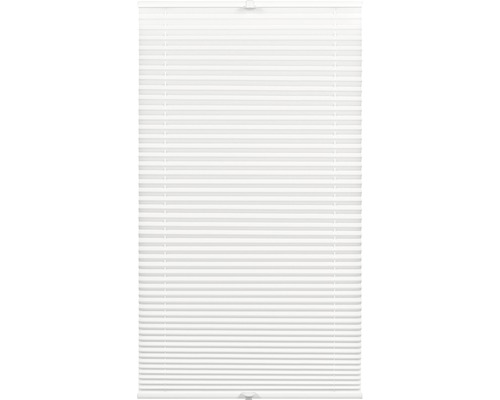 Store plissé tamisant Wohnidee 80x210 cm blanc