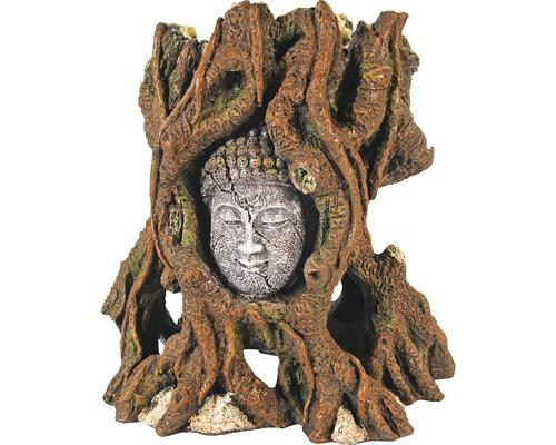 Décoration d''aquarium Koramu visage dans arbre 20x13x20cm