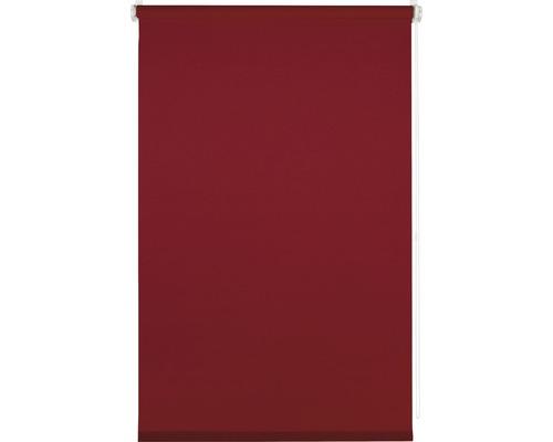 Store à clipser obscurcissement sans perçage avec guide latéral sans perçage uni rouge cerise 45x150cm avec support de serrage