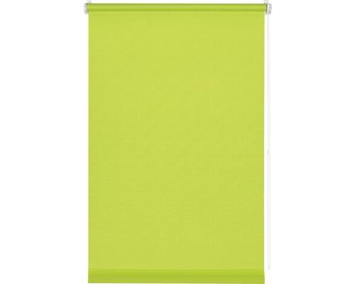 Store à clipser avec guidage latéral sans perçage uni vert pomme 45x150cm avec support de serrage