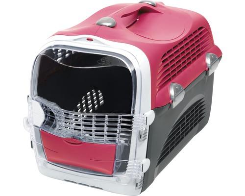 Boîte de transport Catit Cabrio Carrier 53 x 27 x 40,5 cm rouge-gris