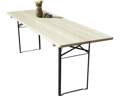Table pliante 220x70x75cm épicéa naturel