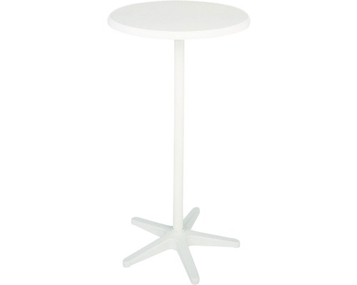 Table haute Best Duo Ø70 H110cm blanc