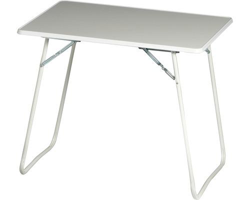 Table de camping Best 80x60 H67cm blanc