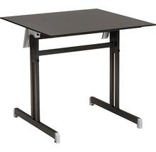 Table pliante Best Bodega 80x80H74cm anthracite-thumb-0