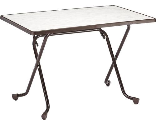 Table pliante Best 70x110 H70cm marron