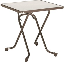 Table pliante Best 67x67 H70cm marron-thumb-0