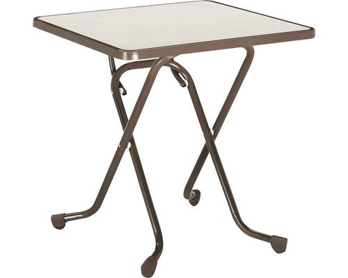 Table pliante Best 67x67 H70cm marron-0