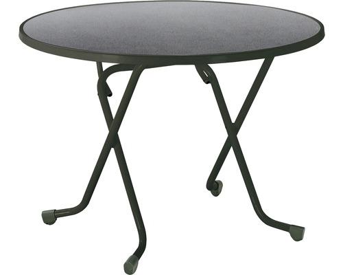 Table pliante Best Ø100 H70cm anthracite