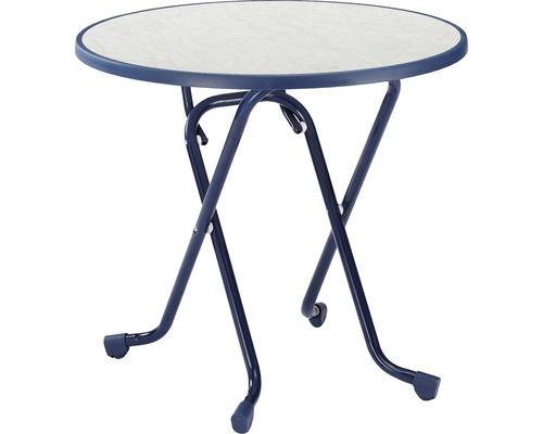 Table pliante Best Ø80 H70cm bleu