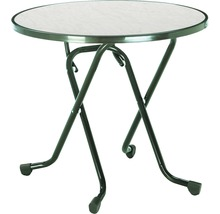 Table pliante Best Ø80 H70cm vert-thumb-0