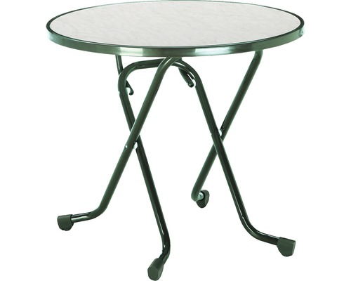Table pliante Best Ø80 H70cm vert-0