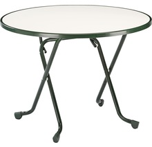 Table pliante Best Ø100H70cm vert-thumb-0