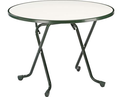 Table pliante Best Ø100H70cm vert