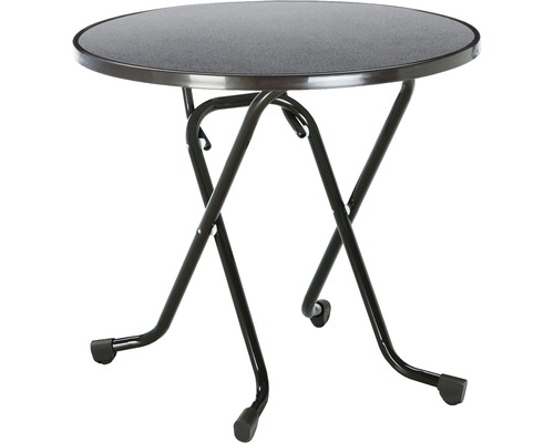 Table pliante Best Ø80 H70cm anthracite