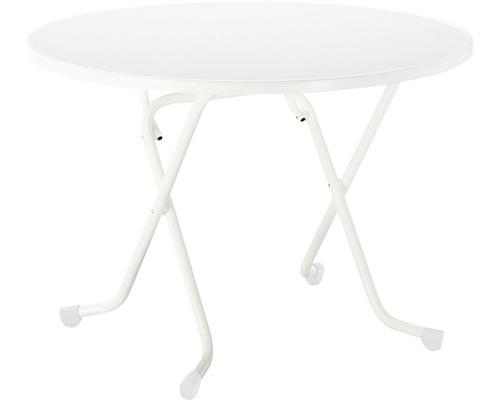 Table pliante Best Ø100 H70cm blanc