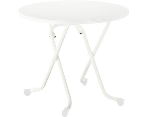 Table pliante Best Ø80 H70cm blanc