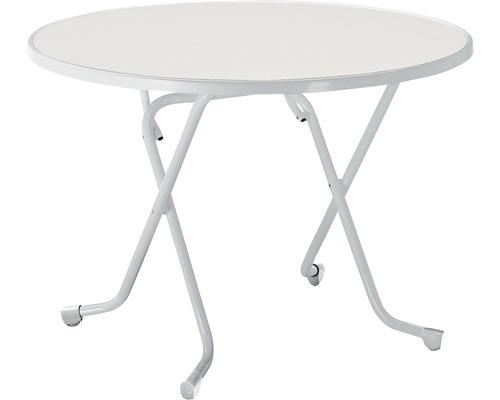 Table pliante Best Ø100 H70cm argent