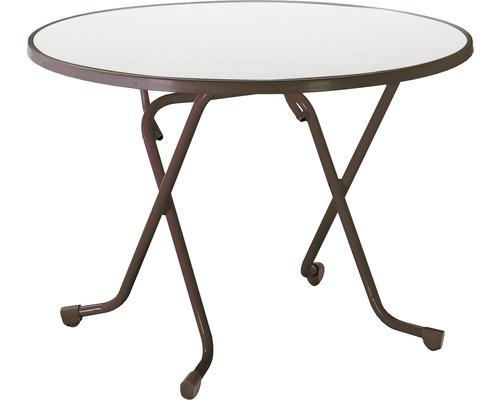 Table pliante Best Ø100 H70cm marron-0
