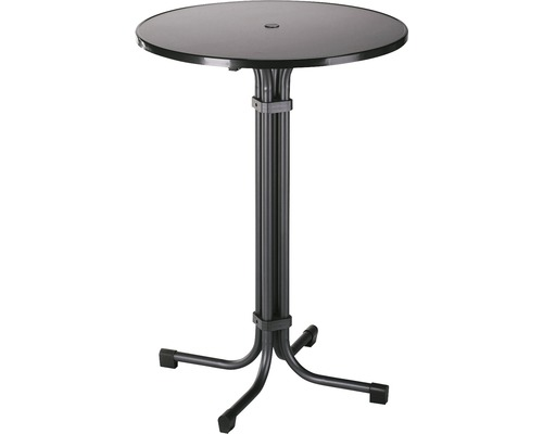 Table haute Best Multiflex Ø80 H110cm anthracite