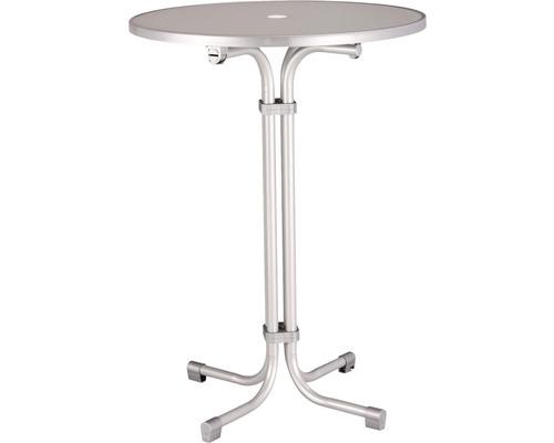 Table haute Best Multiflex Ø80 H110cm argent