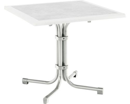 Table de jardin Best Boulevard 80x80 H72cm argent-0