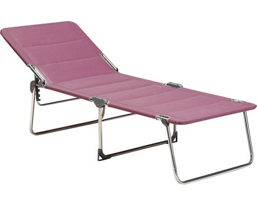 Transat pliant, chaise longue de jardin sur 3 pieds Best Young Collection argent