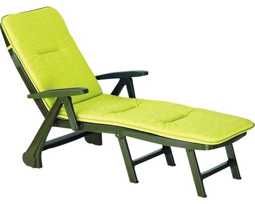 Klappliege Rollliege Best Charleston grün inkl. Polsterauflage grün limette