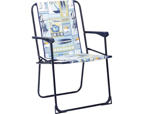 4 fauteuils pliants, bleu