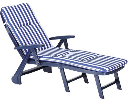 Klappliege Rollliege Best Charleston blau inkl. Polsterauflage