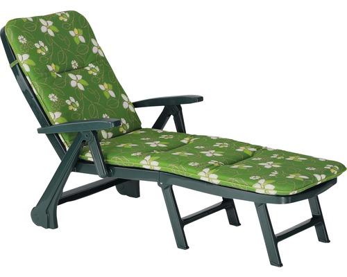 Klappliege Rollliege Best Charleston grün inkl. Polsterauflage dunkelgrün