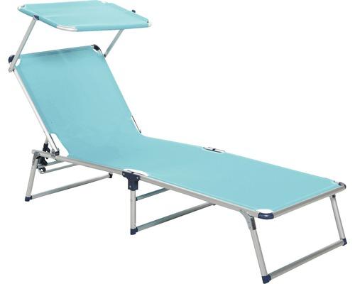 Transat pliant, chaise longue de jardin Best Tegernsee alu-argent