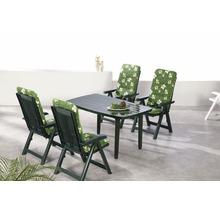 Ensemble de meubles de jardin Best Santiago 4 places, 9 éléments, vert, avec galettes de chaise-thumb-0