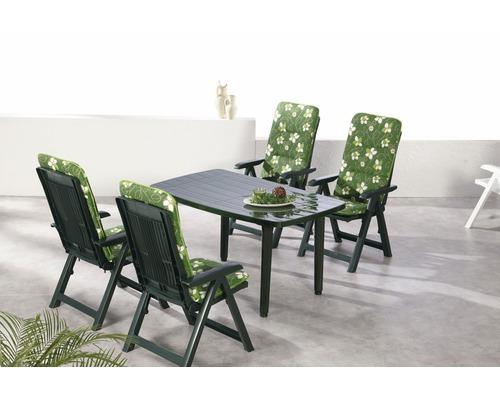 Ensemble de meubles de jardin Best Santiago 4 places, 9 éléments, vert, avec galettes de chaise