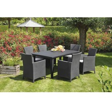 Fauteuil lounge dining Best Napoli graphite gris clair, avec galette de chaise-thumb-1