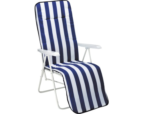 Fauteuil relax Best Chiemsee blanc, avec galette d''assise